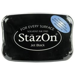 Stazon Solvent Ink Pad, Jet Black -