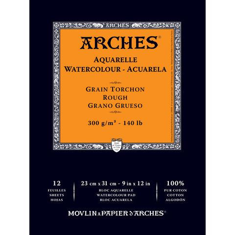 Rough Watercolor Paper Pad 9x12, Canson Arches French Bound -