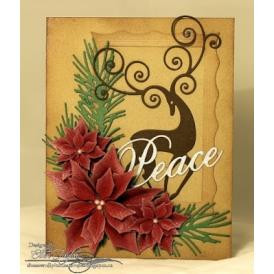 Small Poinsettia Set, Impression Obsession Dies -