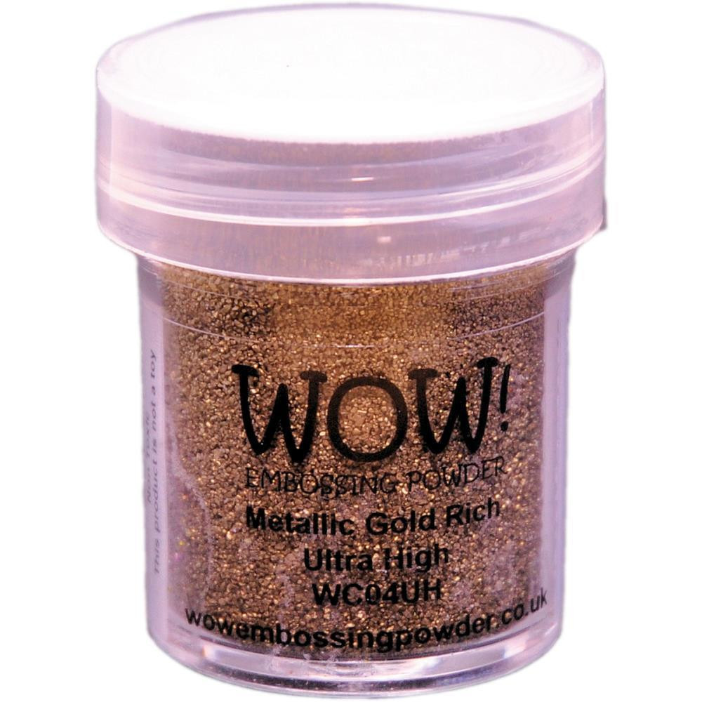 WOW Embossing Powder, Ultra High - Metallic Gold Rich -