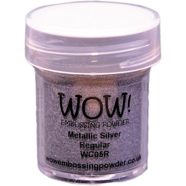 WOW Embossing Powder, Regular - Metallic Silver -