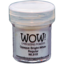 WOW Embossing Powder, Regular - Opaque Bright White -