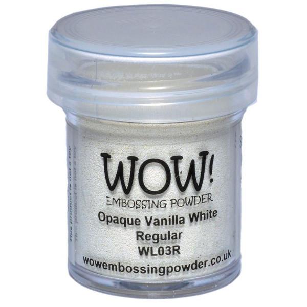 WOW Embossing Powder, Regular - Opaque Vanilla White -