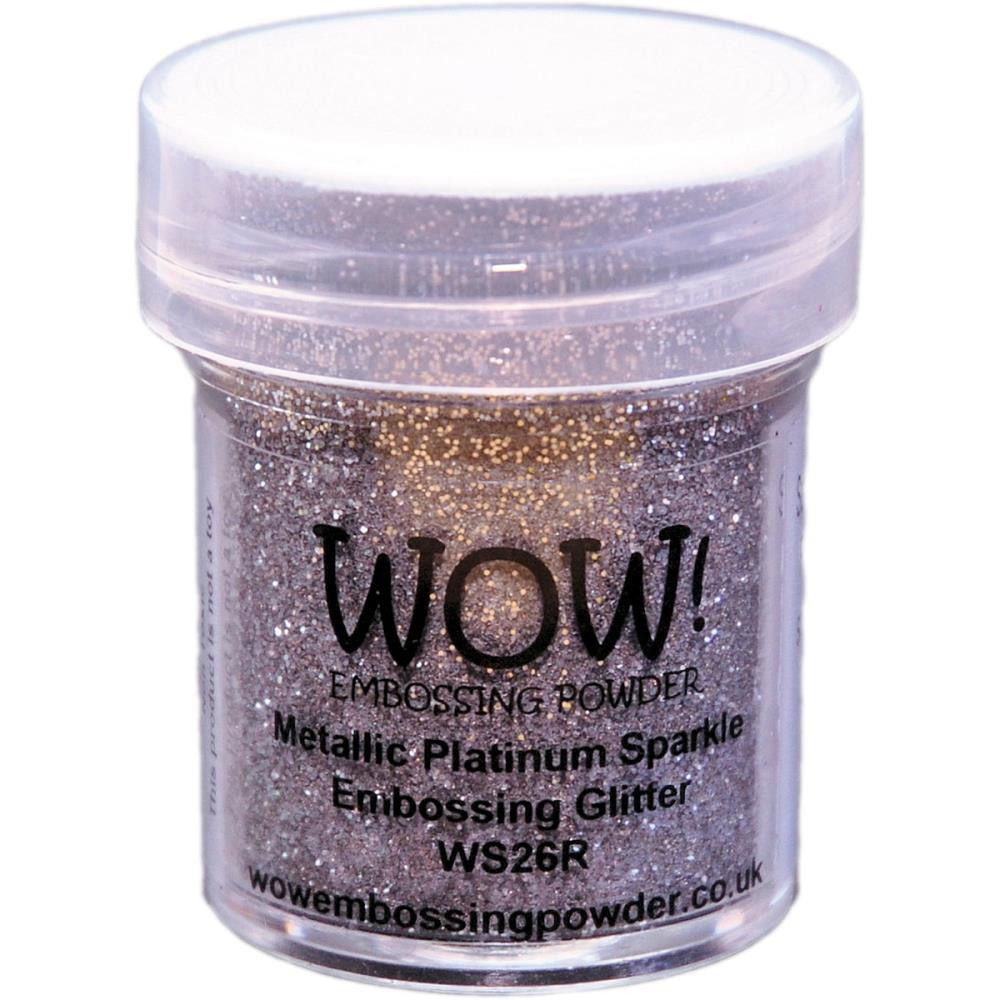 WOW Embossing Powder, Regular - Metallic Platinum Sparkle -