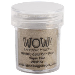 WOW Embossing Powder, Super Fine - Metallic Gold Rich Pale -