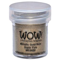 WOW Embossing Powder, Super Fine - Metallic Gold Rich -
