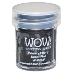 WOW Embossing Powder, Super Fine - Primary Ebony -