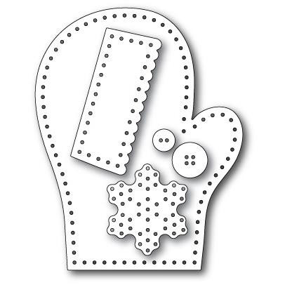 Plush Frosty Mitten, Memory Box Dies -