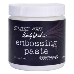 Studio 490 Embossing Paste by Wendy Vecchi, White - Large - 8oz - 199622069554