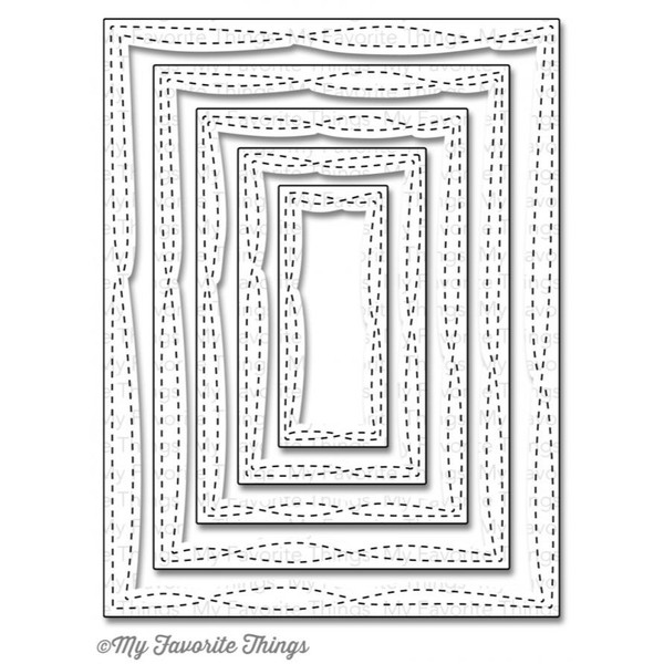 Wonky Stitched Rectangle STAX, My Favorite Things Die-namics -