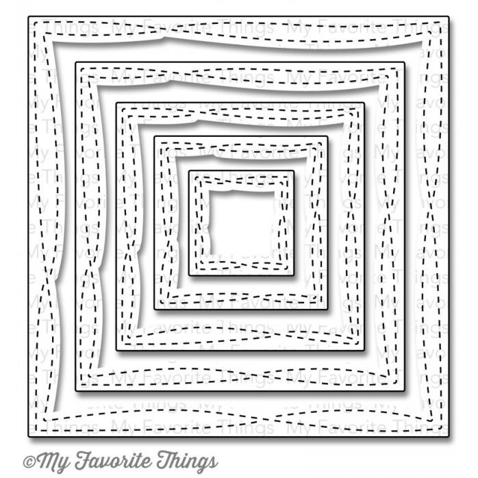 Wonky Stitched Square STAX, My Favorite Things Die-namics (Retiring) -