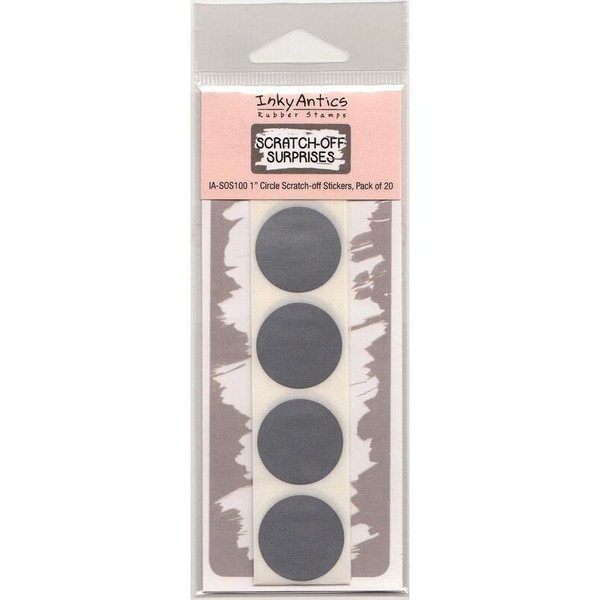 1 Inch Circle, Inky Antics Scratch-off Stickers -