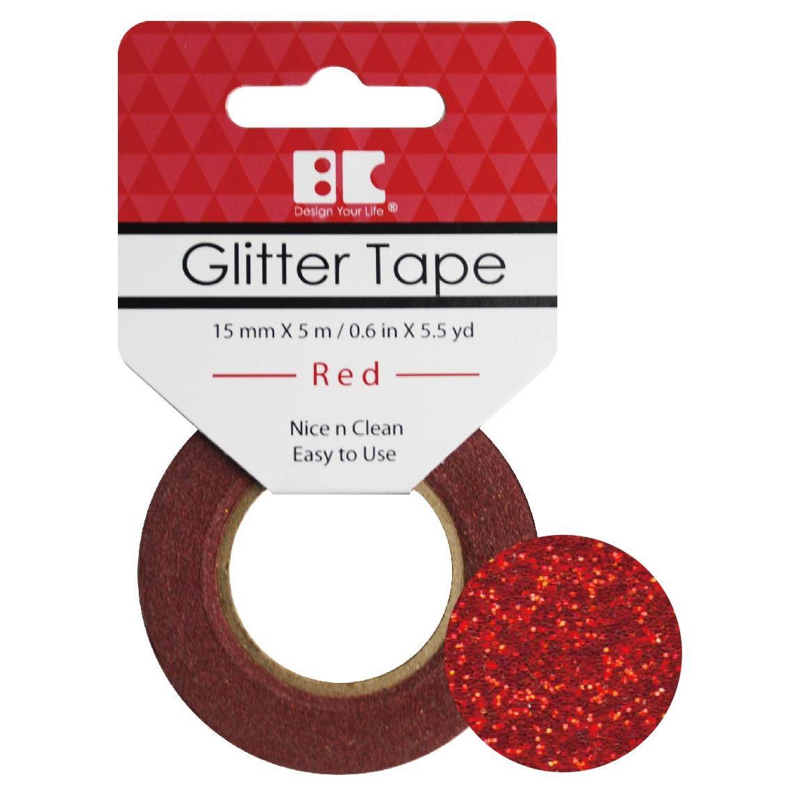 Red, Best Creation Glitter Tape -