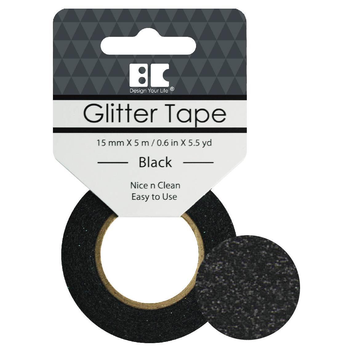 Black, Best Creation Glitter Tape -