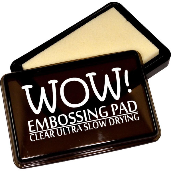 WOW Embossing Pad, Ultra Slow Drying - Clear -