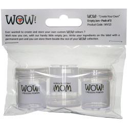 WOW Create Your Own Empty Jars, 3 pk -