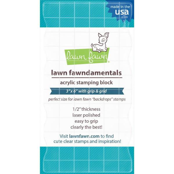 3x6, Lawn Fawn Clear Acrylic Block -