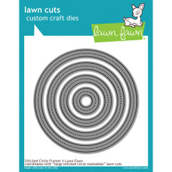 Stitched Circle Frames, Lawn Cuts Dies -