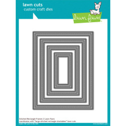 Stitched Rectangle Frames, Lawn Cuts Dies -