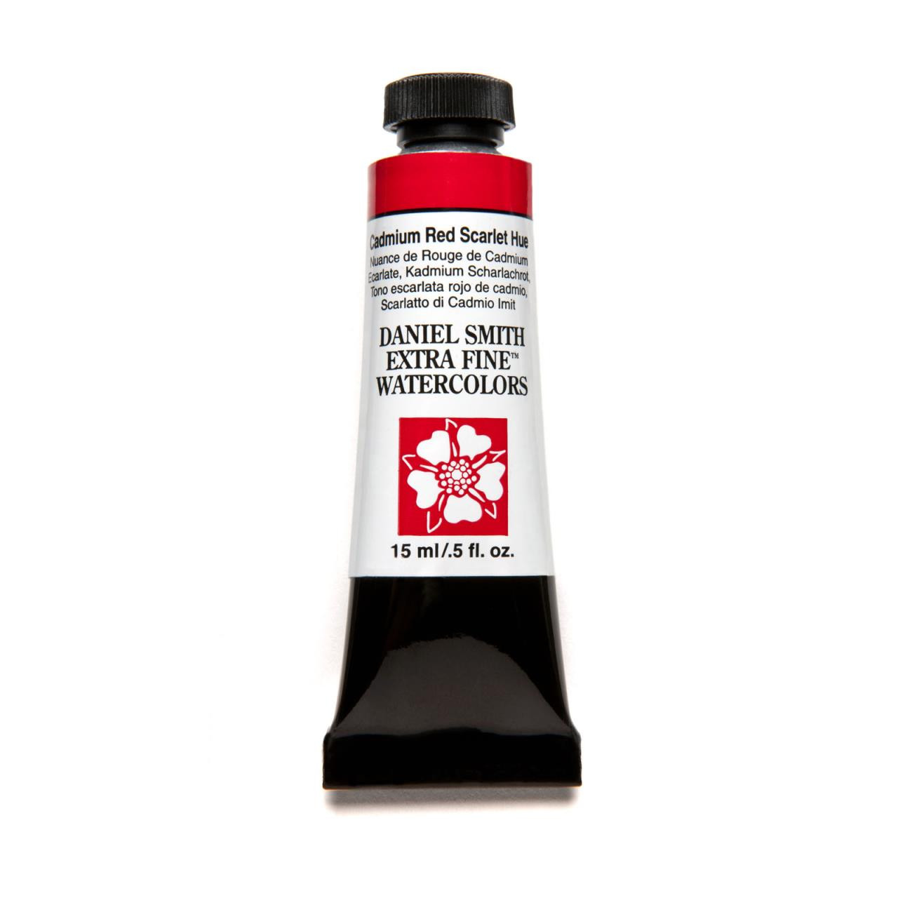 Cadmium Red Scarlet Hue, DANIEL SMITH Extra Fine Watercolors 15ml Tubes -