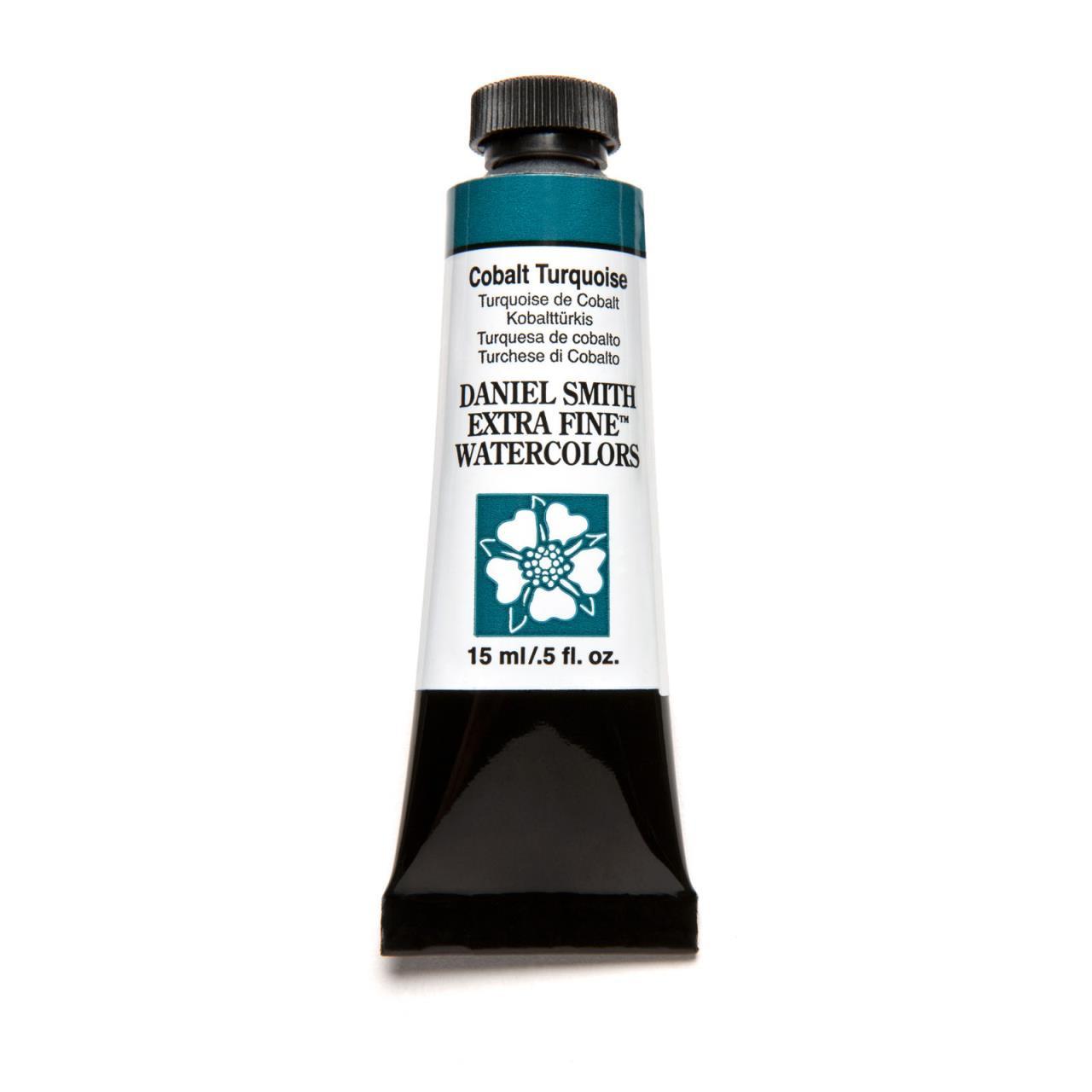 Cobalt Turquoise, DANIEL SMITH Extra Fine Watercolors 15ml Tubes -