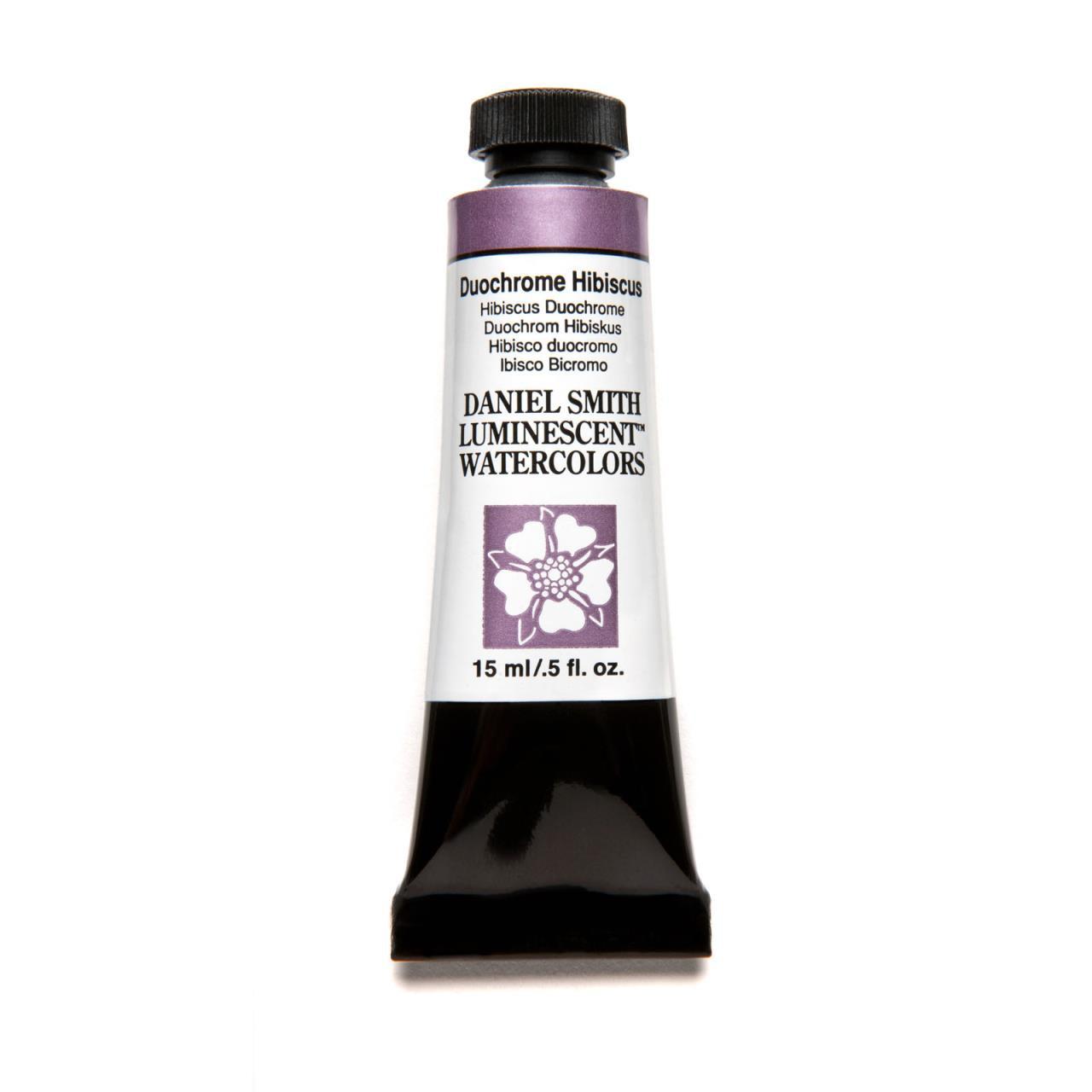 Duochrome Hibiscus (Luminescent), DANIEL SMITH Extra Fine Watercolors 15ml Tubes -