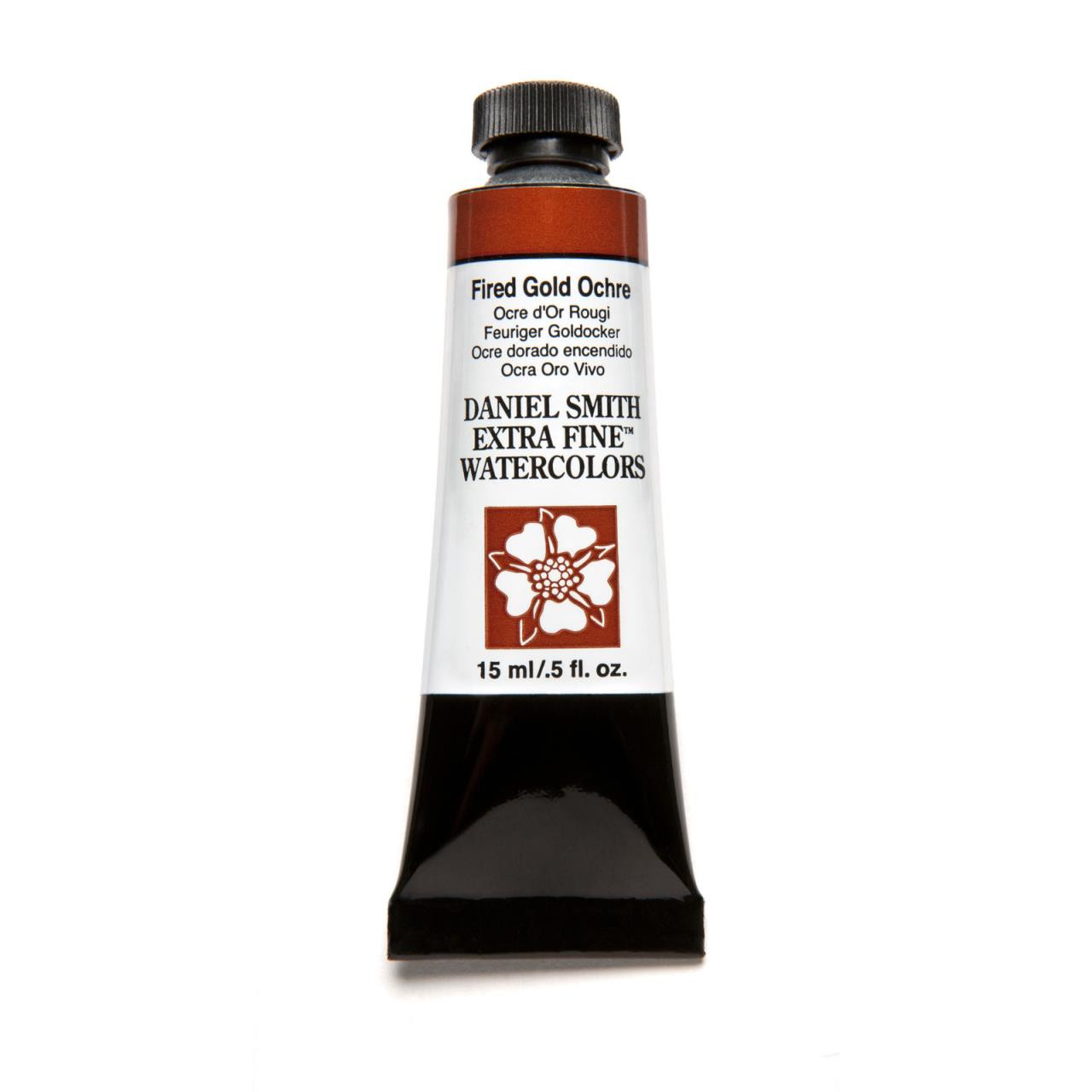 Fired Gold Ochre, DANIEL SMITH Extra Fine Watercolors 15ml Tubes -