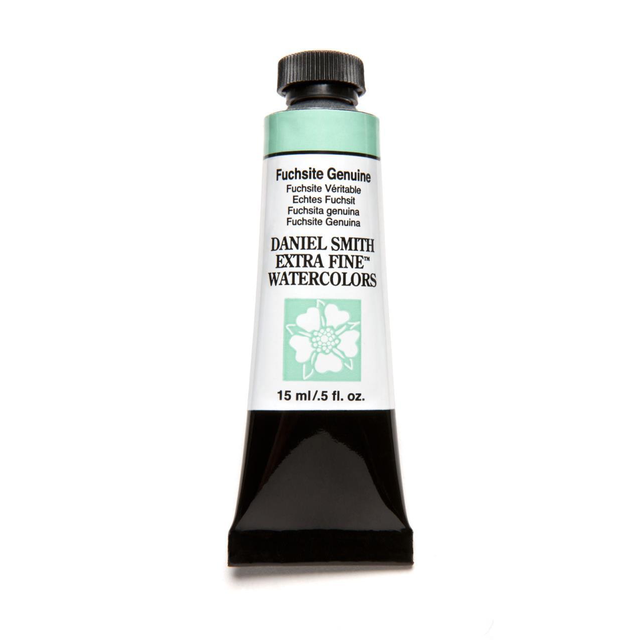 Fuchsite Genuine (PrimaTek), DANIEL SMITH Extra Fine Watercolors 15ml Tubes -