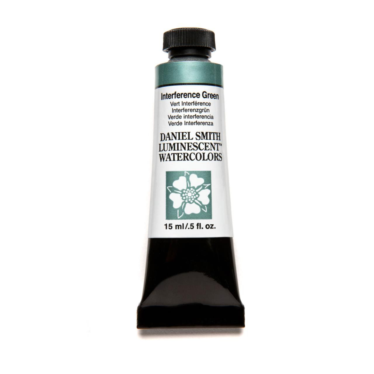Interference Green (Luminescent), DANIEL SMITH Extra Fine Watercolors 15ml Tubes -
