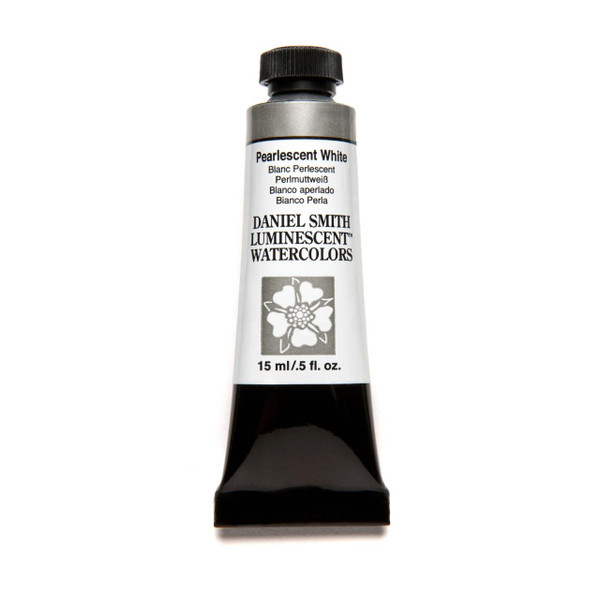 Pearlescent White (Luminescent), DANIEL SMITH Extra Fine Watercolors 15ml Tubes -