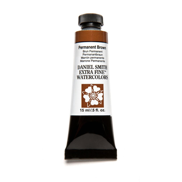 Permanent Brown, DANIEL SMITH Extra Fine Watercolors 15ml Tubes -