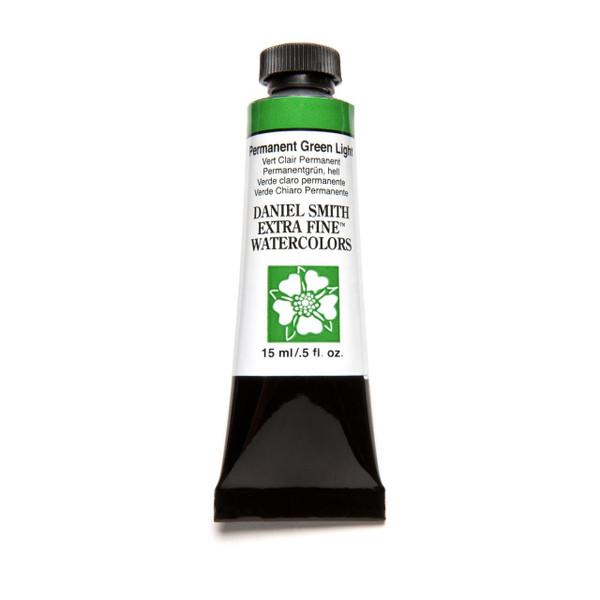 Permanent Green Light, DANIEL SMITH Extra Fine Watercolors 15ml Tubes -
