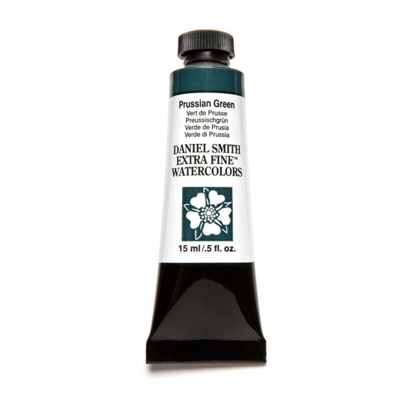 Prussian Green, DANIEL SMITH Extra Fine Watercolors 15ml Tubes -