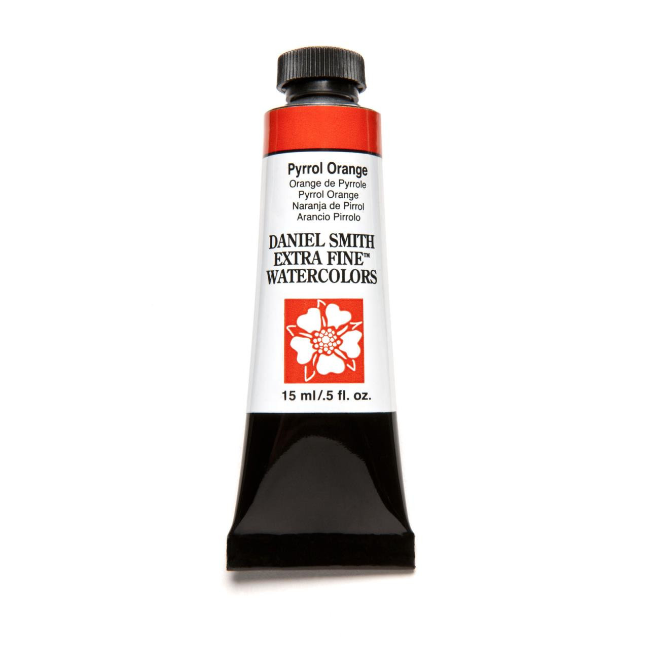DANIEL SMITH Extra Fine Watercolors 15ml Tubes, Pyrrol Orange - 743162014644