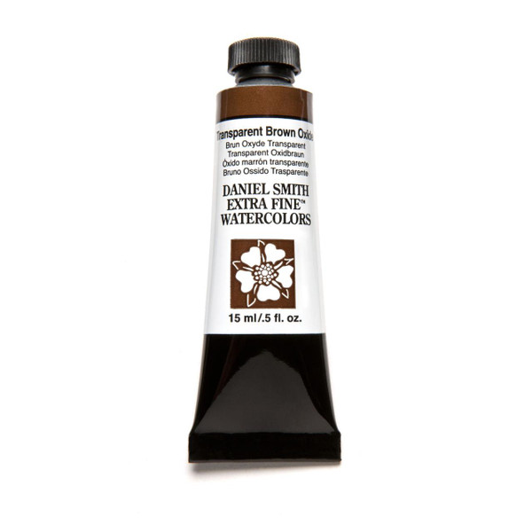 Transparent Brown Oxide, DANIEL SMITH Extra Fine Watercolors 15ml Tubes -