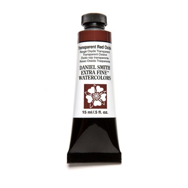 Transparent Red Oxide, DANIEL SMITH Extra Fine Watercolors 15ml Tubes -