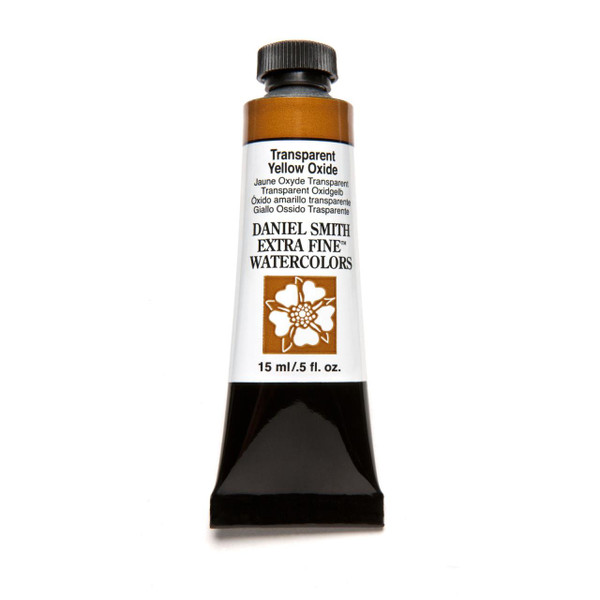 Transparent Yellow Oxide, DANIEL SMITH Extra Fine Watercolors 15ml Tubes -