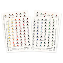 238 Colors, DANIEL SMITH Extra Fine Watercolor Dot Chart -