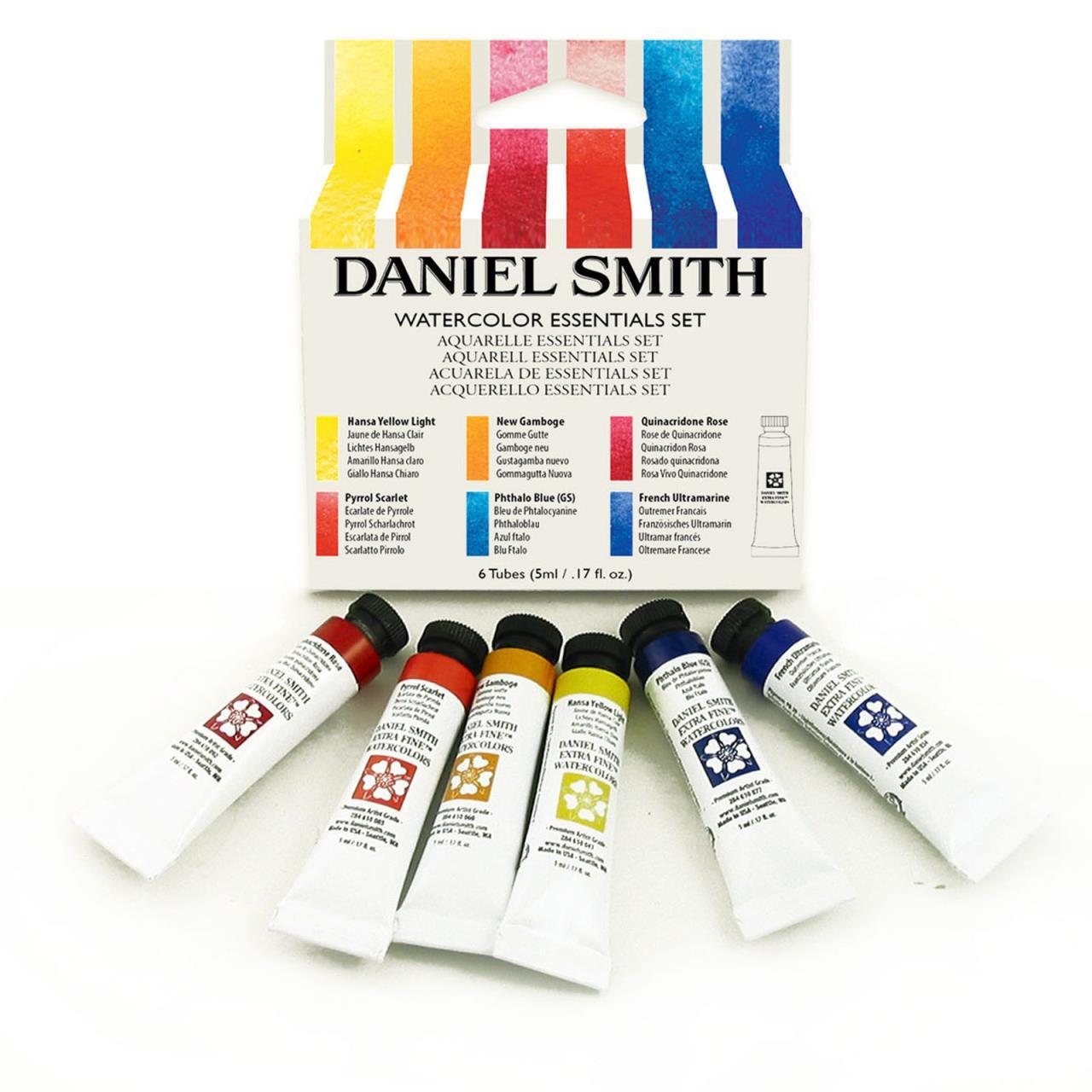 Essentials 5ml - Set of 6, DANIEL SMITH Extra Fine Watercolors -