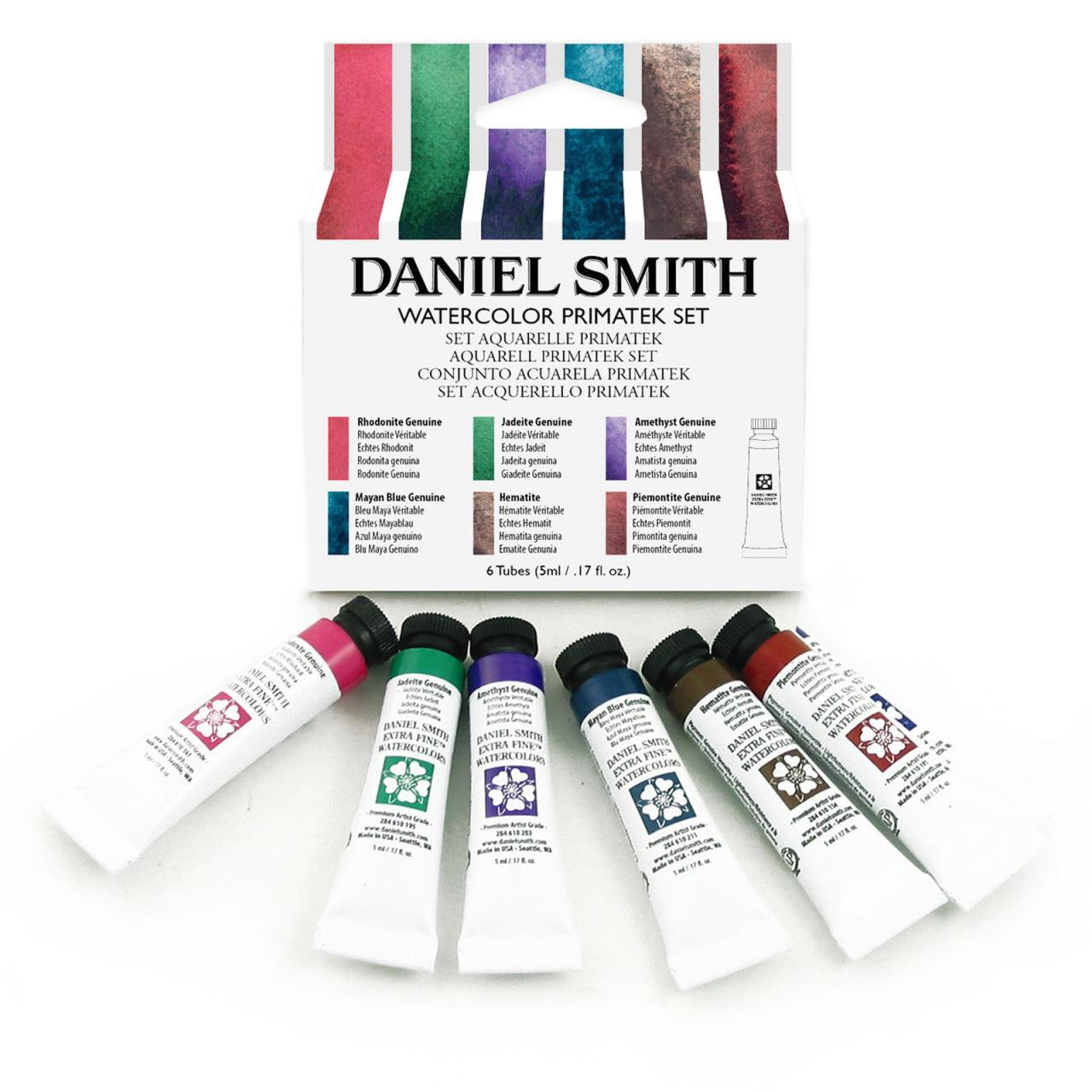 PrimaTek 5ml - Set of 6, DANIEL SMITH Extra Fine Watercolors -