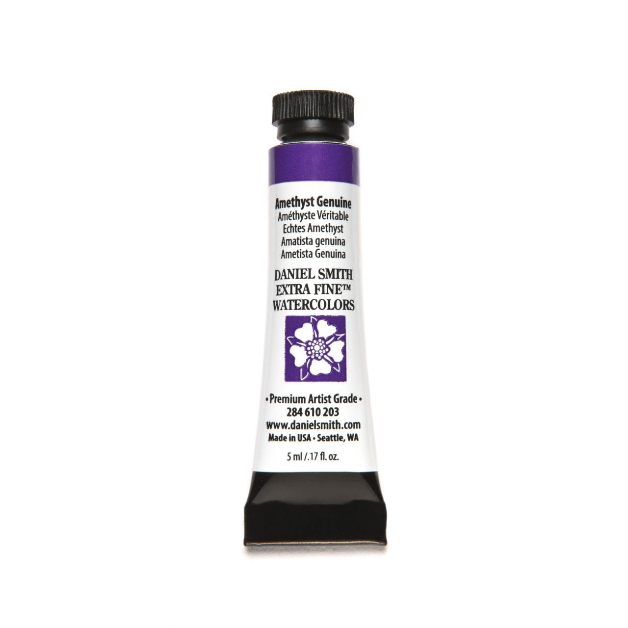 Amethyst Genuine (PrimaTek), DANIEL SMITH Extra Fine Watercolors 5ml Tubes -