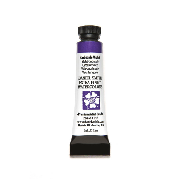 Carbazole Violet, DANIEL SMITH Extra Fine Watercolors 5ml Tubes -