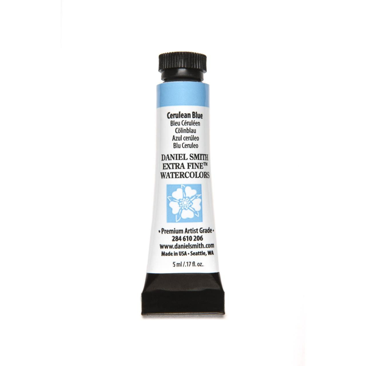 Cerulean Blue, DANIEL SMITH Extra Fine Watercolors 5ml Tubes -