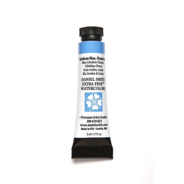Cerulean Blue Chromium, DANIEL SMITH Extra Fine Watercolors 5ml Tubes -