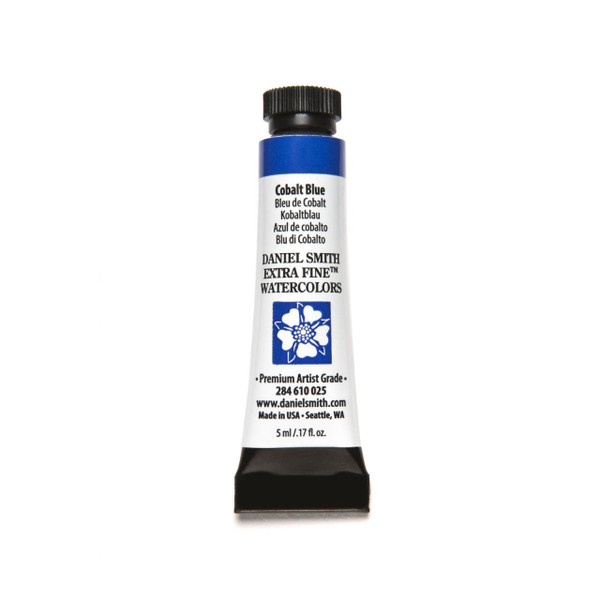 Cobalt Blue, DANIEL SMITH Extra Fine Watercolors 5ml Tubes -