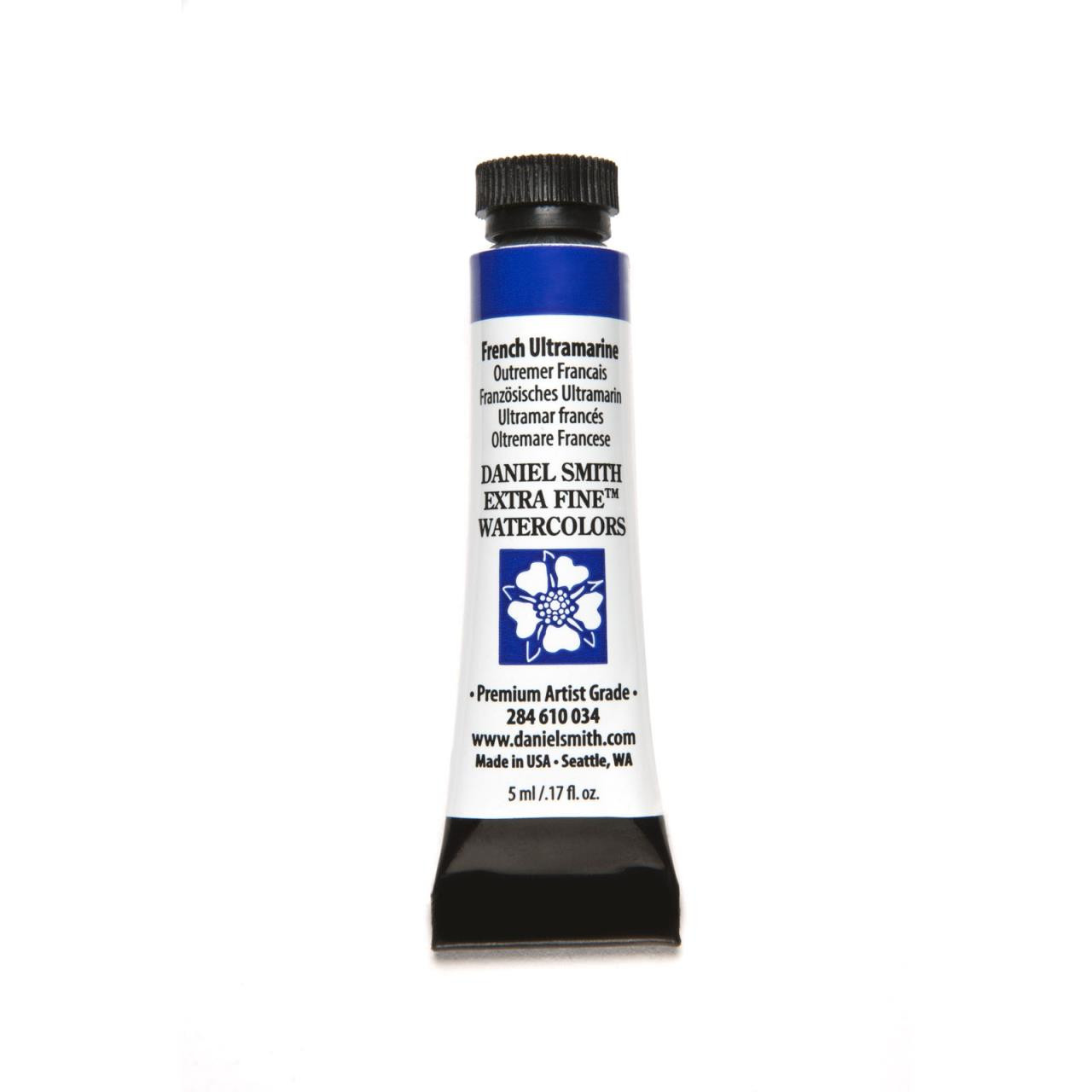 French Ultramarine, DANIEL SMITH Extra Fine Watercolors 5ml Tubes -