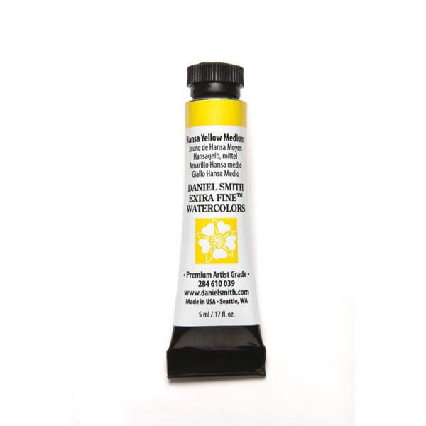 Hansa Yellow Medium, DANIEL SMITH Extra Fine Watercolors 5ml Tubes -