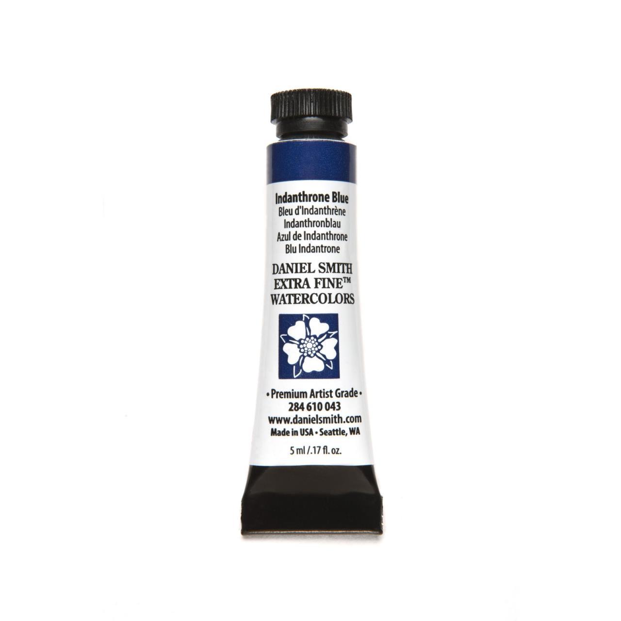 Indanthrone Blue, DANIEL SMITH Extra Fine Watercolors 5ml Tubes -