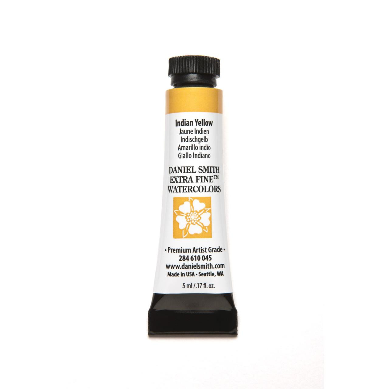 Indian Yellow, DANIEL SMITH Extra Fine Watercolors 5ml Tubes -