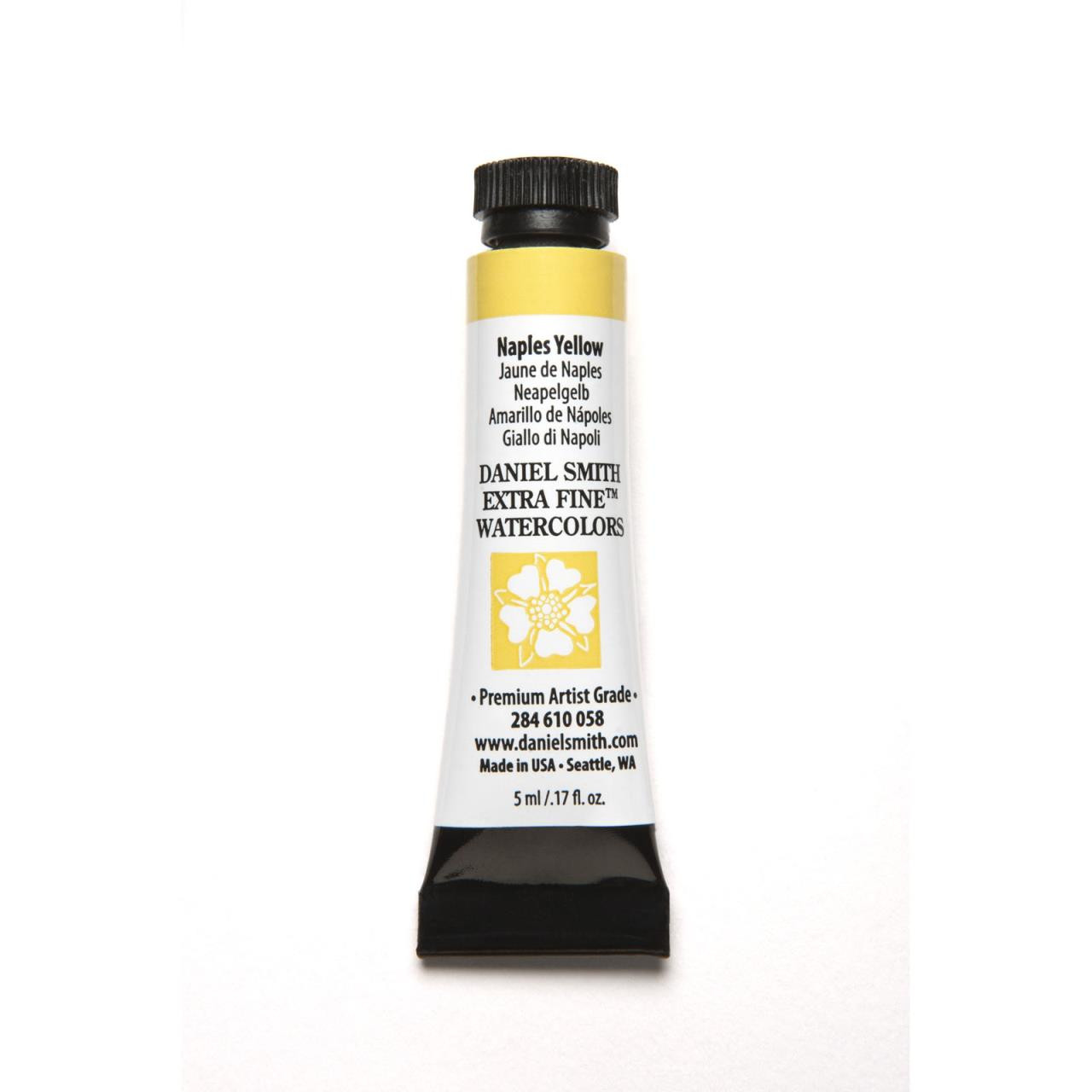 Naples Yellow, DANIEL SMITH Extra Fine Watercolors 5ml Tubes -